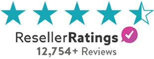 We received four and a half stars on ResellerRatings.com